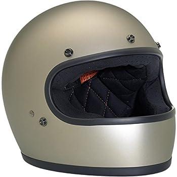 Biltwell Inc. Gringo Helmets, Distinct Name: Flat Titanium, Gender: Mens/Unisex, Helmet Category: Street, Helmet Type: Full-face Helmets, Primary Color: Silver, Size: Md GH-TIT-FL-MED