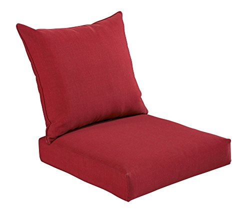 Bossima Indoor/Outdoor Rust Red Deep Seat Chair Cushion Set,Spring/Summer Seasonal Replacement Cushions. (Seat Outdoor Cushion Deep)