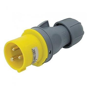16A 3 pin Industrial Male Electrical Plug Socket 110V 16 Amp U31 by ...