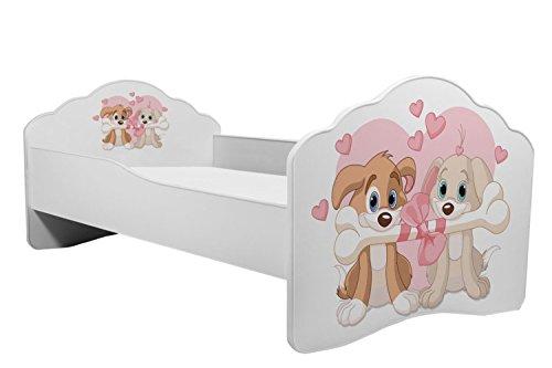 KOBI Lettino per Bambini Letto 160/x 80/cm con Sweet Dogs Mattres