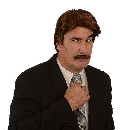 Han Solo Wig (Kangaroo Costume Wig; 70s News Reporter Wig & Mustache,)