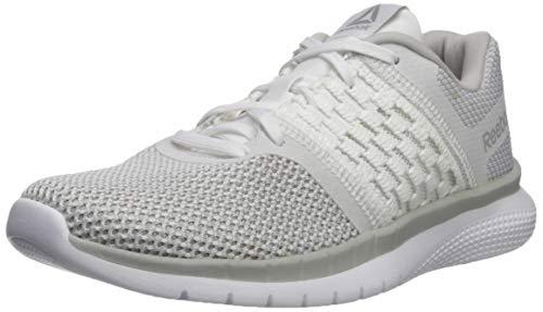 Reebok Women's Print Prime Runner Sneaker, White/Steel, 8.5 M US (Best Tennis Shoes For Insanity Workout)
