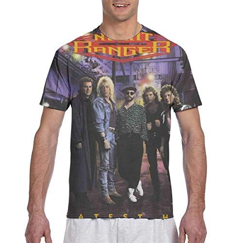 Night Ranger Greatest Hits Mens 3D Printed Short Sleeve Top T-Shirts XL Black ()