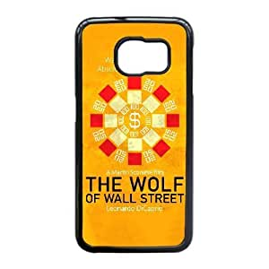 Special Design Cases Samsung Galaxy S6 Edge Cell Phone Case Black The Wolf of Wall Street Ubfso Durable Rubber Cover