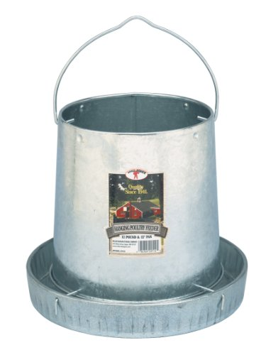 Miller 9112 12lb. Galvanized Hanging Poultry Feeder, My Pet Supplies