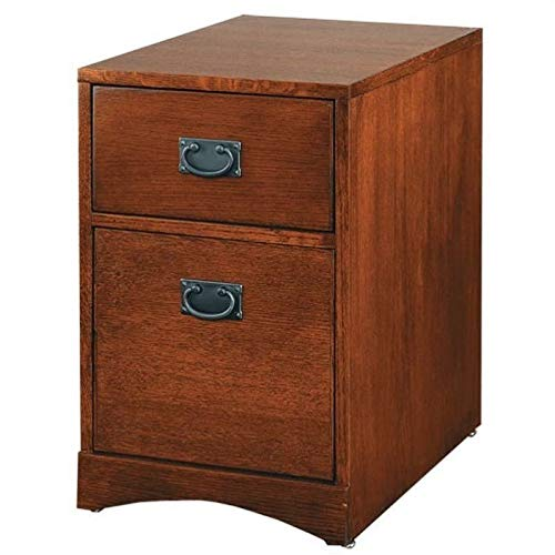 Beaumont Lane 2 Drawer Mobile Vertical Wood File Cabinet in Mission