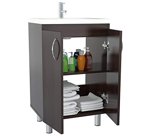 Inval America GBP-028 Classic Contemporary Style Bathroom Vanity ()