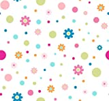 Springs Creative Products Crafty Cuts 2 Yards Cotton Fabric, Floral Dot