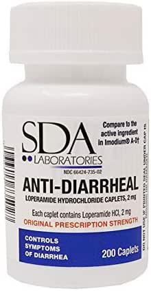 Anti-Diarrheal 2MG 200 Caplets by SDA Labs