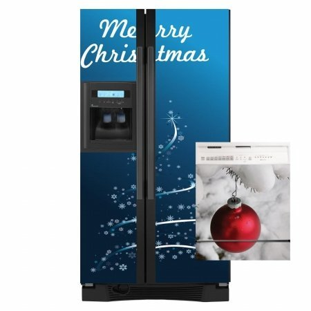 Christmas Tree Combo Appliance Art Decorative Magnetic Dishwasher And  Refrigerator Front Panel Cover   Quick,