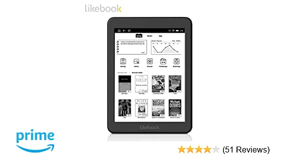 Likebook Mars E-reader with 7 8''300ppi E-Ink Touchscreen 8 Core 1 5GHz,  Built-In Audible, 16GB Storage Android System 6 0  Support Google store