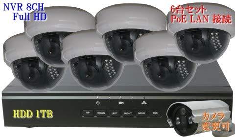 最適な材料 防犯カメラ 210万画素 8CH 8CH POE レコーダー ドーム型 IP ネットワーク 1080P カメラ 210万画素 SONY製 6台セット LAN接続 HDD 1TB 1080P フルHD 高画質 監視カメラ 屋内 赤外線 B07KMXJY63, シチノヘマチ:0ddd0566 --- itourtk.ru