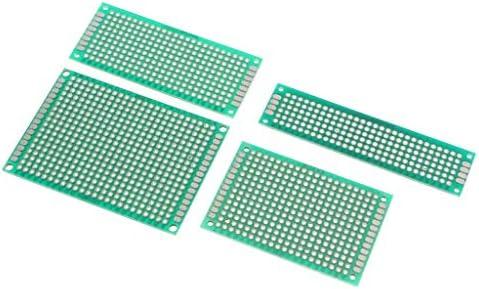 ZT-TTHG 4PC 5×7 4×6 3×7 2x8cm両面プロトタイプPCBためのシールドボードDIY