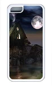 iPhone 5c case, Cute Moonshine iPhone 5c Cover, iPhone 5c Cases, Soft Whtie iPhone 5c Covers