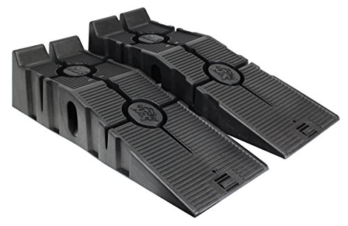 RhinoGear 11909ABMI RhinoRamps Vehicle Ramp - Set of 2 (12,000lb. GVW Capacity) Drive Gear 3 Way