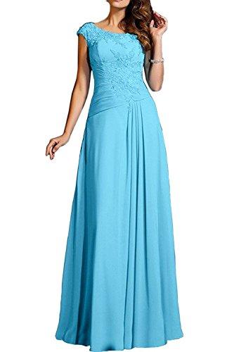 Neu Langes Brautjungfernkleider Charmant Chiffon Damen Promkleider Blau Blau Abendkleider Partykleider Xg7gA8wvqx