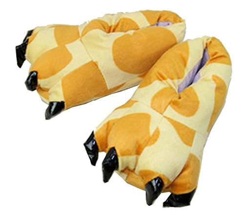 Yinwen Vrouwen Eenhoorn Pyjama Slippers Klauw Schoenen Winter Indoor Slippers Giraffe Schoenen