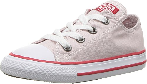 Converse Toddler's Chuck Taylor All Star Casual Shoes, Barely Rose/Enamel Red/White,8C