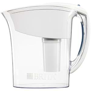 Brita Atlantis Water Filter Pitcher, White, 6 Cup