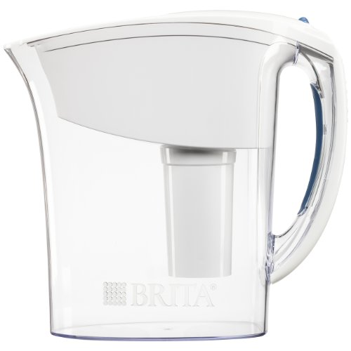 Brita Small 6 Cup Water Filter Pitcher with 1 Standard Filter, BPA Free - Space Saver, White