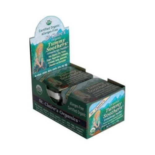 St. Claire's Organic Tummy Soothers Aromatherapy Pastilles 1.38 OZ (Pack of 6)