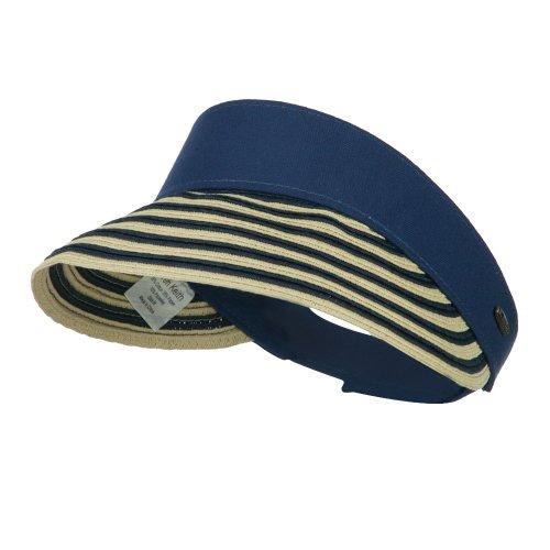 UPF 50+ Toyo Paper Braid Visor - Navy OSFM