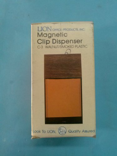 - Lion Office Products Magnetic Clip Dispenser C-3 Walnut / Smoked Plastic 2 1/2