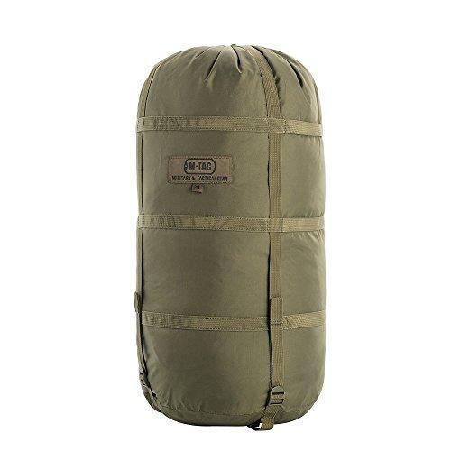 M-Tac Nylon Sleeping Bag Compression Sack - Stuff Bag - for camping hiking backpacking XL (Olive) (Nylon Roll Bag)