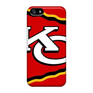 Iphone 5/5s DZj19266OSsD Allow Personal Design Colorful Kansas City Chiefs Pattern Anti-Scratch Hard Phone Cover -KerryParsons