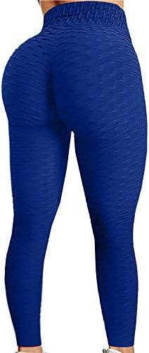 TIK Tok Leggings for Women,Women Butt Lifting Yoga Pants High Waist Tummy Control Bubble Hip Lift Workout Running Tights