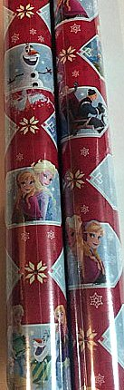 [Christmas Red Wrapping Frozen Elsa Holiday Paper Gift Greetings 2 Roll Design Festive Wrap Olaf] (Castle Boutique Halloween Costumes)