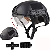 iMeshbean Airsoft Swat Helmet Combat Fast Helmet with Protective Goggles With Wing-Loc Adapter as the Gift