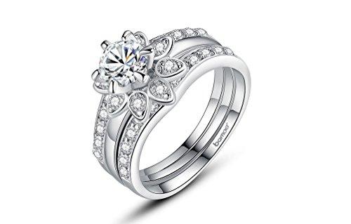 Dixey Luxury Anillos Sortijas 18K De Compromiso Aniversario Matrimonio Boda Oro Plata Anel De Ouro Prata 925 Joyeria Fina Para Mujer  6  Ri0013