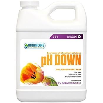 Botanicare pH DOWN Plant Supplement 0-15-0 Formula, 1-Quart