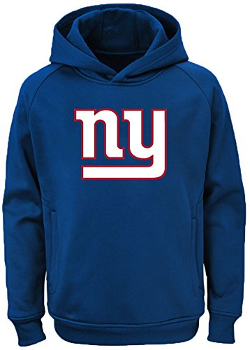 Outerstuff NFL Youth Team Color Performance Primary Logo Pullover Sweatshirt Hoodie (Small 8, New York Giants) ()