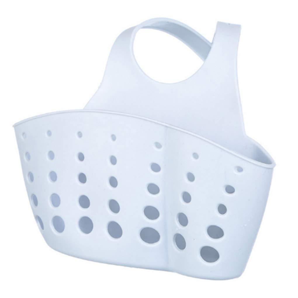 PVC Plastic Adjustable Hanging Storage Baskets Sink Sponge Soap Holder for Kitchen Organization