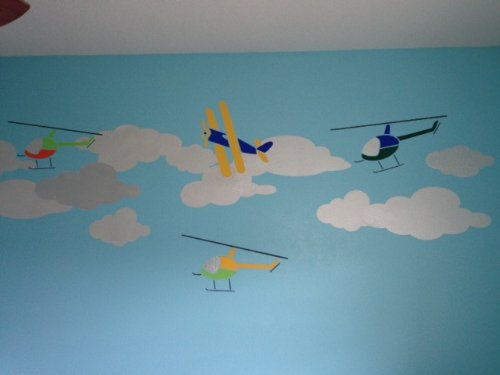 my wonderful walls cloud wall stencils for painting clouds in baby room and kids room buy. Black Bedroom Furniture Sets. Home Design Ideas