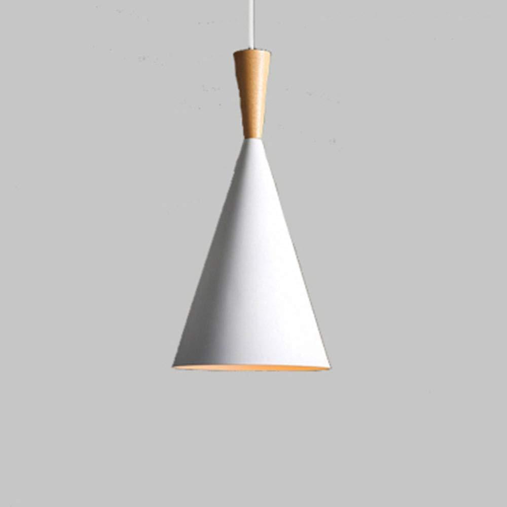 Shuhong Yansh Pendelleuchten Moderne Einfache Aluminium Aluminium Aluminium Kreative Bar Cafe Küche E27 220V(Enthält Keine Birnen),Original-Wood-A(Weiß) 19cm 61acdf