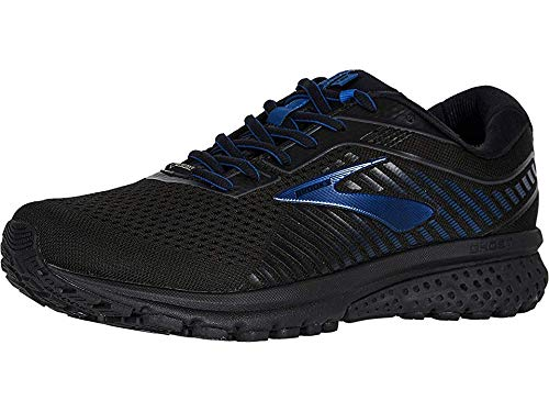 Brooks Men's Ghost 12 GTX Black/Ebony/Blue 10 D US