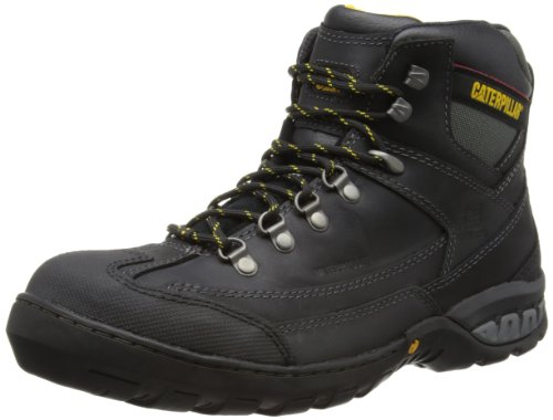 Galleon - Caterpillar Dynamite St S3 Steel Toe Mens Leather Safety Boots-BLACK-9