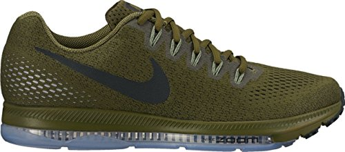 Nike Mens Zoom All Out Low Sequoia/Palm Green/Pure Platinum/Black Nylon Running Shoes 10 M US (Nike Zoom Low)