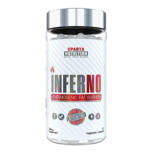Sparta Nutrition INFERNO: Zero Stimulant Diet Pills for Women and Men, Midsection Fat Burner No Caffeine with Sensoril Ashwagandha to Reduce Cortisol, Support Thyroid Health, Boost Metabolism, 60 (Inferno Burner)