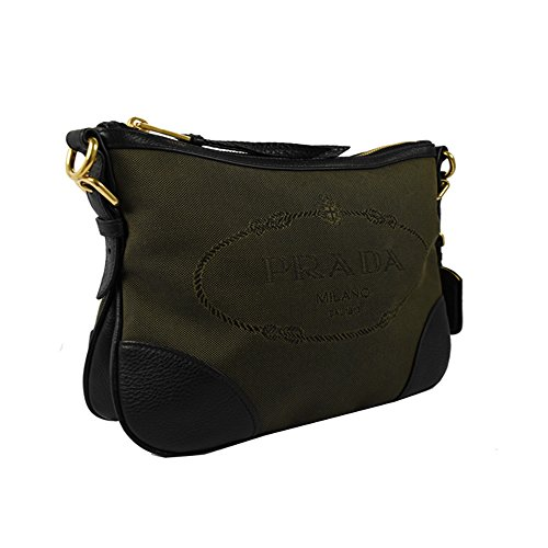 Jacquard Brown Crossbody Prada Logo 1BH086 Women's Bq7gfxg