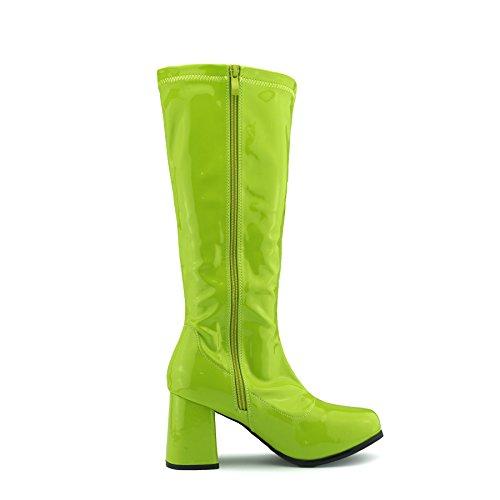 De Talon Longues Dames Haute Haut Genou Bottes Green 8fdxOwq