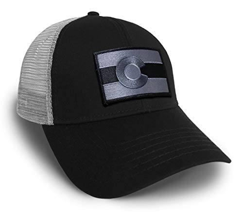 Strange Cargo Colorado Flag Patch Adjustable Black and Grey Baseball Cap Hat