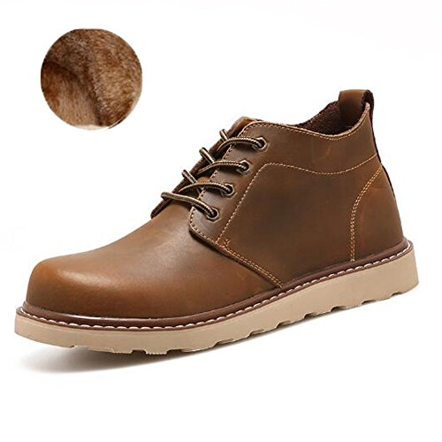 FASHION Work Boots Shoe Toe With Round Men's Velvet Ankle PP High Oxford Coffee Desert gYxvwdqd0