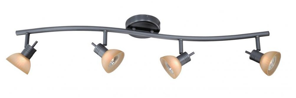 Vaxcel SP53514DB Como 4 Light S-Shape Track Bar, Dark Bronze Finish