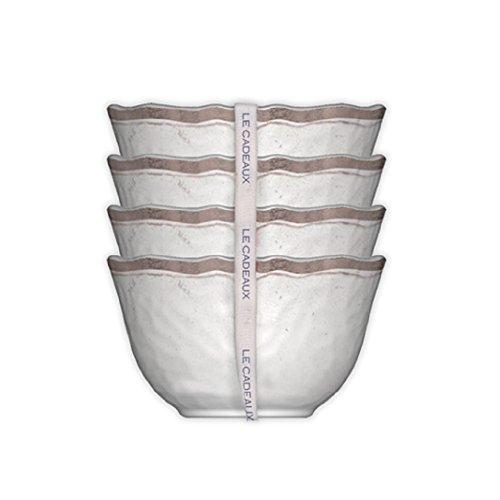 Le Cadeaux Rustica Desert Bowl (Set of 4), White by Le Cadeaux