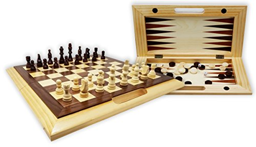 checkers board game wooden - 7