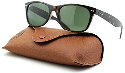 Ray-Ban RB2132 New Wayfarer Unisex Sunglasses (Tortoise Frame/Cristal Green Lens 902L, - 902 Wayfarer Rb2132 55 New